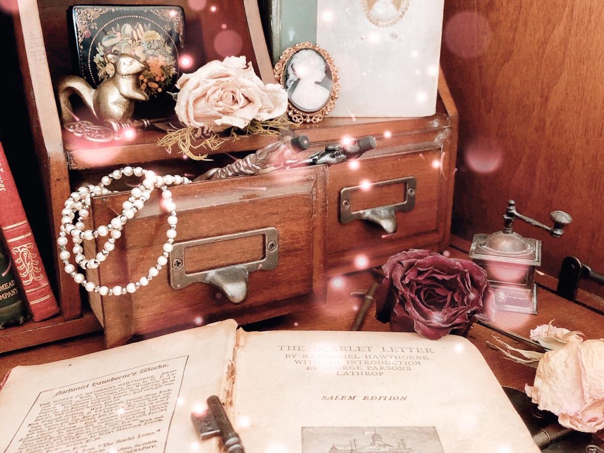 Secretary Desk and Books